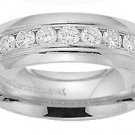 Benchmark - 14 K White Gold Channel Diamond Comfort Fit Band Reg $1724