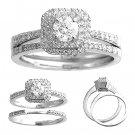 14 K White Gold Diamond Wedding Set 0.75 Carat Total Reg $1839