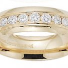Benchmark - 14 K Yellow Gold Channel Diamond Comfort Ring Reg $1,563