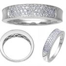 14K White Gold Diamond Band 1/3 CTW Reg $689