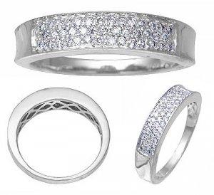 14K White Gold Diamond Band 1/3 CTW Reg $689
