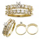 14 K Yellow Gold Diamond Wedding Set 1.4 CTW Reg. $2,299