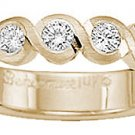 Benchmark - 14 K Yellow Gold Curvy Diamond Band Reg. $1,494