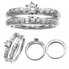 14 K White Gold Diamond Wedding Ring Set 0.60 Carat Reg. $1,149
