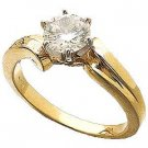 14 K gold 1 Carat Lab Created Diamond Engagement Ring Reg. $287.49