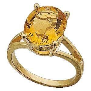 14 K Gold and 5 Ct. Genuine Citrine - Magnificent! Reg $414