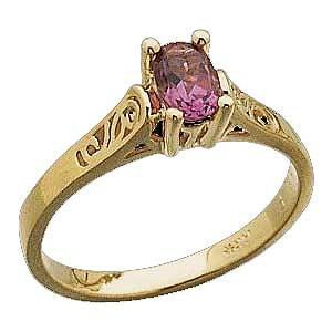 14 K Yellow Gold Pink Tourmaline Ring Reg $333