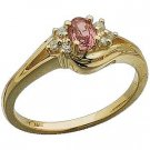 14K Gold Pink Sapphire and Gen. Diamond Ring Reg. $483