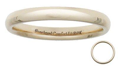 Benchmark - 3mm Comfort Fit 14 K Wedding Band Reg $229