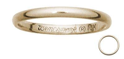 Benchmark - 2mm 14 K Yellow Gold Wedding Band Reg $160.99