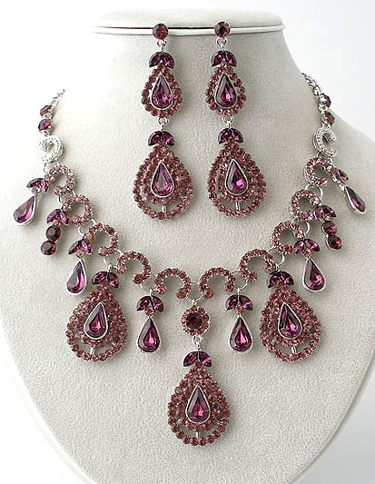 Queen Elizabeth - Rhinestone Necklace/Earring Set Reg $89.99