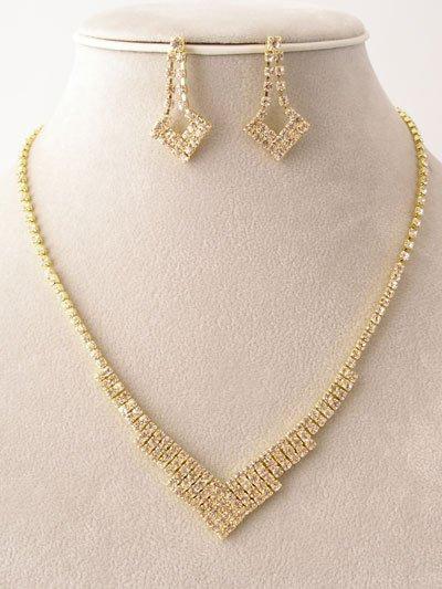 Designer Rhinestone Necklace/Earring Set Reg $49.99