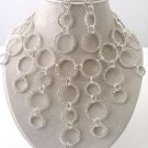 Cascading Rhinetone Circles Necklace/Earring Set Reg $119.99