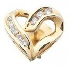 Diamond Heart Earrings Reg $552