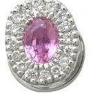 Pink Sapphire and Diamond Earrings Reg $517