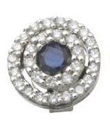Diamond and Sapphire Circle Earrings Reg $553