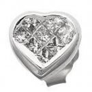 Diamond Heart Studs Reg $573
