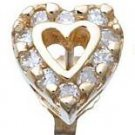 Diamond Heart Earrings Reg $683
