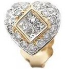 Diamond Heart Earrings Reg $793