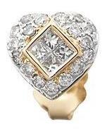 Diamond Heart Earrings Reg $793