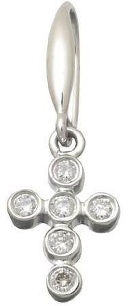 Diamond Cross Earrings $305