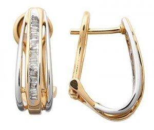 Diamond Huggy Style Earrings Reg $396