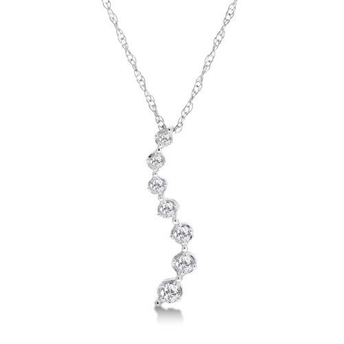 1/5 Carat Diamond Journey Pendant/Necklace - White Gold Reg $189