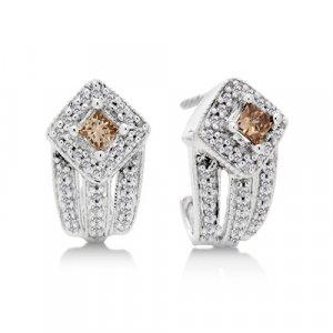 1/2 Carat Champgne Diamond Earrings Reg $499