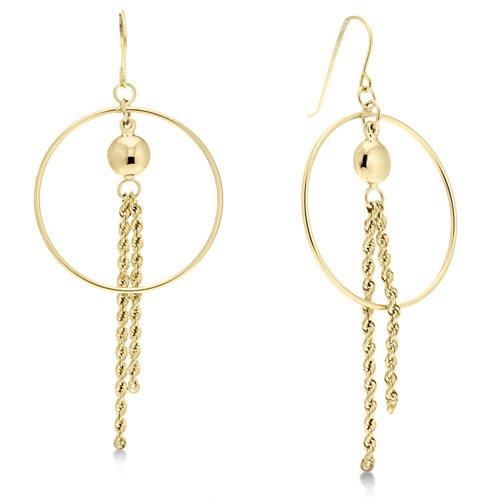 Dangle Yellow Gold Designer Earrings Reg $119