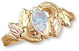 Black Hills Gold Ring with Genuine Opal Reg $269
