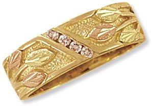 Black Hills 14K Gold Ladies Wedding Band w/Genuine Diamonds Reg $639