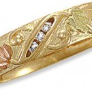 Black Hills 14 K Gold Mens Wedding Ring w/ Genuine Diamond Reg $799