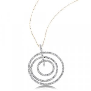 1/3 Carat Diamond White Gold Pendant Necklace Reg $369