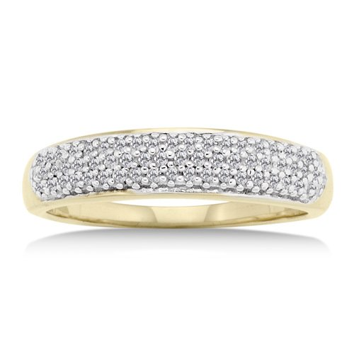 14K Yellow Gold 1/4 Carat Diamond Ring Reg $319
