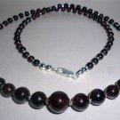 Pomegranate split necklace (54 cm)