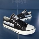 Oakland raiders shoes raiders sneakers super bowl fashion football fans birthday gift