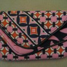 New Vera Bradley Wallet Clutch Checkbook Cover Magnetic Closure