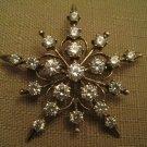 925 Sterling Silver Crystal Rhinestone Star Brooch Signed 925DCCV China GV