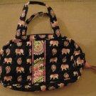 New Vera Bradley Small Handbag Makeup Case Jewelry Case Travel Case Child Ha