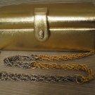 Bienen Davis Gold Lame Evening Bag Rhinestone Clasp Gold Tassels Gold Silver Cha