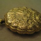 Max Factor GoldTone Metal Mirror Powder Compact Ornate Bird Pocket Watch Pendant