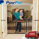 Baby Safety Metal Gate Door Walk Extra Wide Child Toddler  Thru Fence Pet NEW