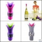 5  Wine Pourer And Stopper Lily Bottle Cork And  Silicone Lily Pourer & Stopper
