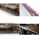 Marble Look Contact Paper Film (Brown, 24 X 118 Roll, High Glossy) Granite