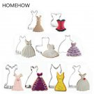 9PCS/Lot  Lady Dress Skirt Mini Skirt Gown Cookie Cutter Set Christmas New Year