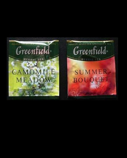 GREENFIELD TEA SUMMER BOUQUET AND CAMOMILE MEADOW HERBAL TEA