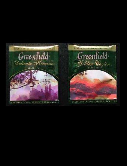 GREENFIELD TEA DELICATE KEEMAN AND GOLDEN CEYLON BLACK TEA