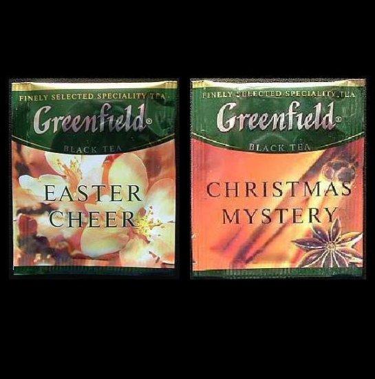 GREENFIELD TEA CHRISTMAS MYSTERY AND EASTER CHEER HERBAL TEA