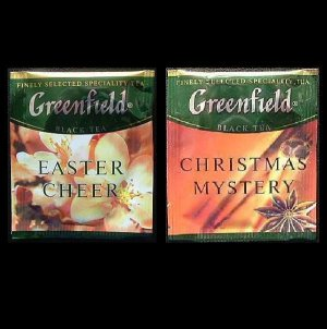 GREENFIELD TEA CHRISTMAS MYSTERY AND EASTER CHEER HERBAL TEA