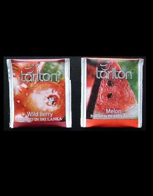 TARLTON TEA WILD BERRY AND MELON TEA BAGS IN PAPER SEALED ENVELOPES